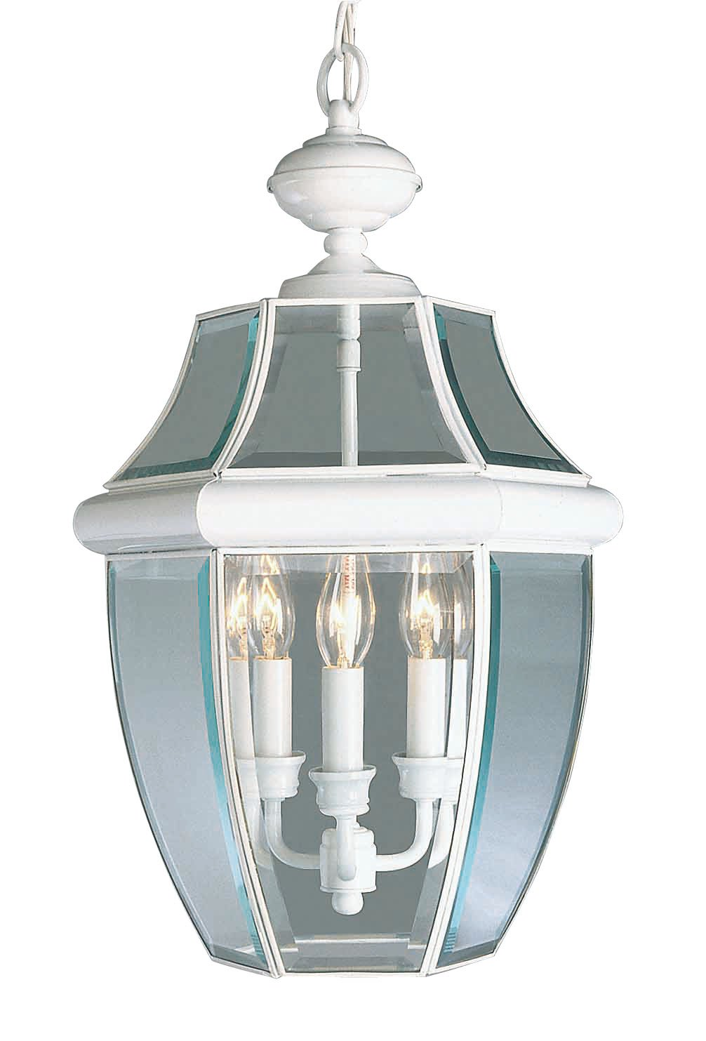 Livex Lighting 2355-03 Monterey 3-Light Outdoor Hanging Lantern, White
