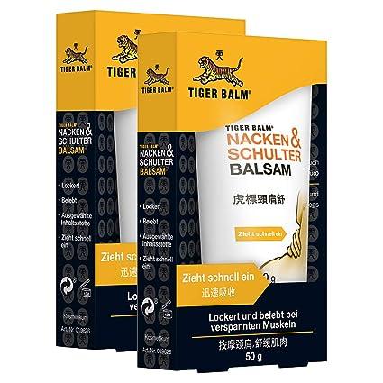 TIGER BALM Nacken & Schulter Balsam – Natürlicher Balsam bei Verspannungen im Nacken- & Schulterbereich – Pflegende Einreibun