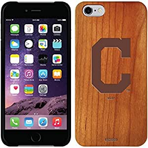fashion case iphone 6 4.7 Madera Wood Thinshield Case with Cleveland Indians Cleveland C in Red Design