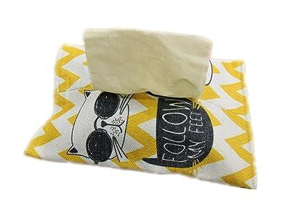 Caja de pañuelos de algodón con soporte de lino para papel, caja de almacenamiento,