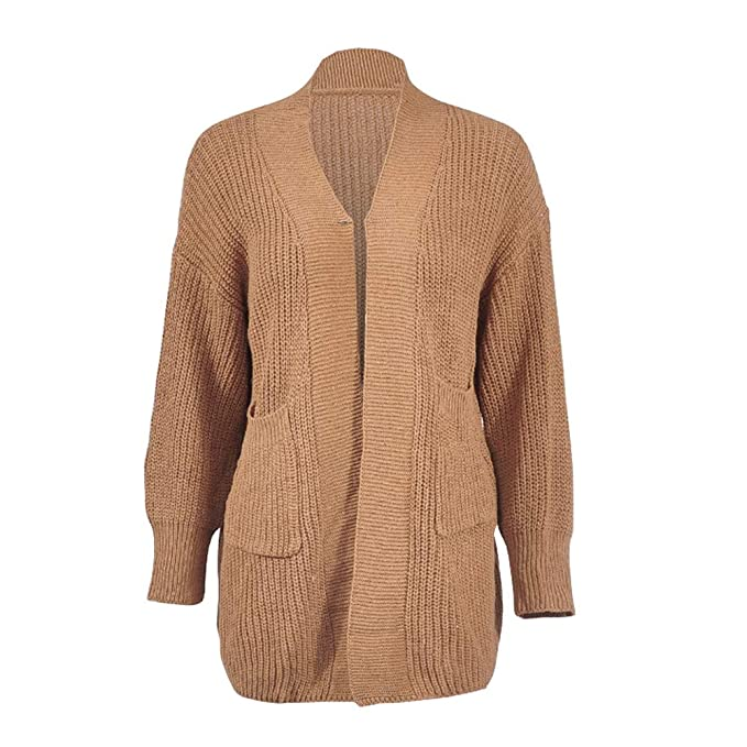 BOZEVON Suéter para Mujer - Otoño Chaqueta de Punto de Punto ...