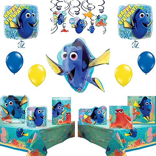 Finding Dory Children Birthday Party Supplies and Balloons Decoration Pack by Combined Brands