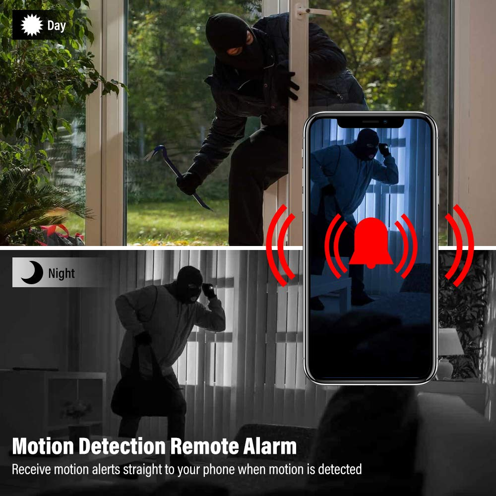 Veroyi Mini Hidden Spy Camera Full HD 1080P WiFi Wireless Remote Security Camera Nanny Cam Home Surveillance Camera
