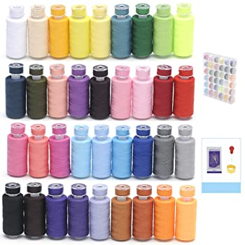 Keimix 36 spools sewing thread set