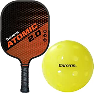 Gamma 2.0 Pickleball Paddle Kit or Set Bundled with a Box of (3) Photon Outdoor Pickleball Balls