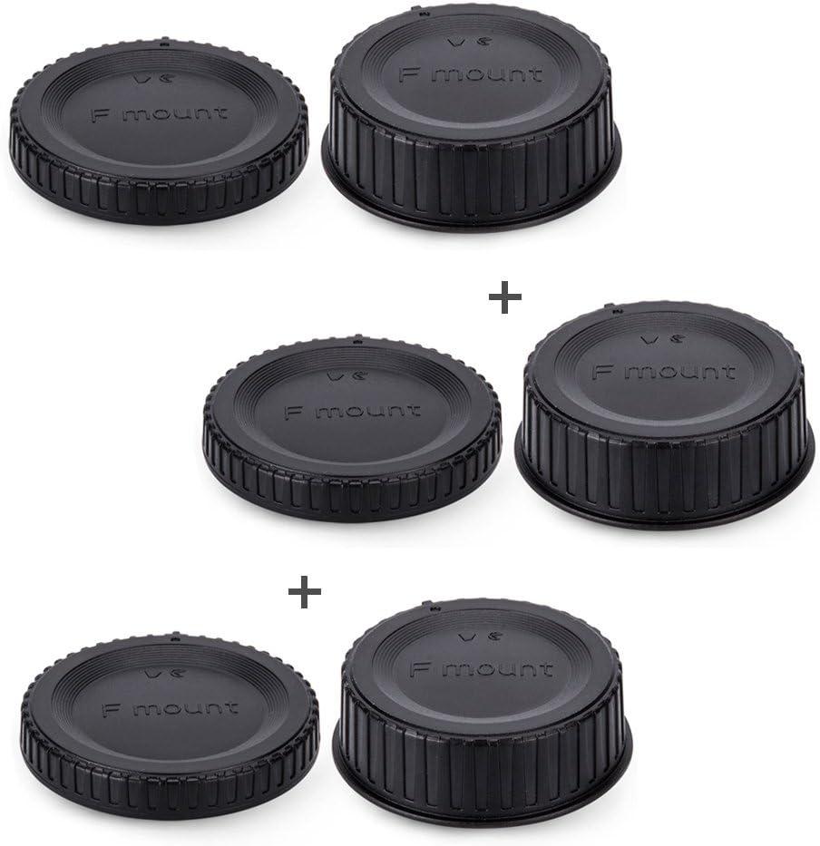 Rear Lens Cap /& Body Cap Cover JJC for Nikon F Mount D3500 D3400 D3300 D3200 D3100 D3000 D7500 D7200 D7100 D5600 D5500 D5300 D5200 D5100 D5000 D850 D810A D810 D800E D800 D750 D500 D40 D5 D4s D4-5Pack