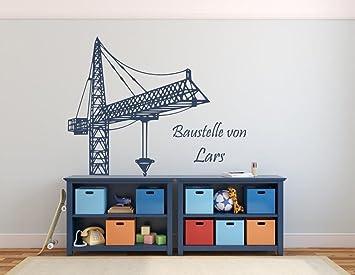 Wandtattoo Mit Namen Kran Baukran Text Baustelle Von Fürs - Wandtatoos schlafzimmer