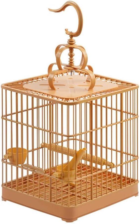 Jaulas de pájaros perico loro La jaula de pájaro del loro jaula de pájaro de Big Bird Thrush Myna jaula de pájaro nido de la paloma Myna Xuanfeng Birdcage ( Color : Amarillo , tamaño : Un tamaño )