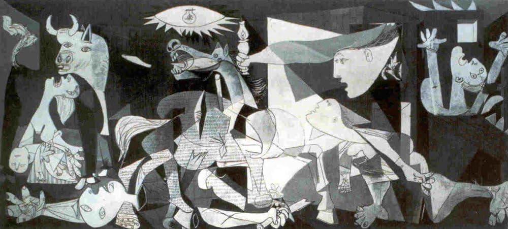 Close Up Lámina/Impresión de Arte de Pablo Picasso - Guernica (100cm x 50cm)