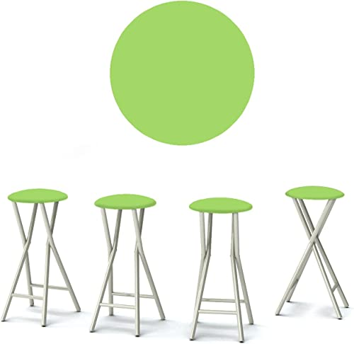 Best of Times 13169W1331 Solid Lime 30″ Portable Padded Bar Stools