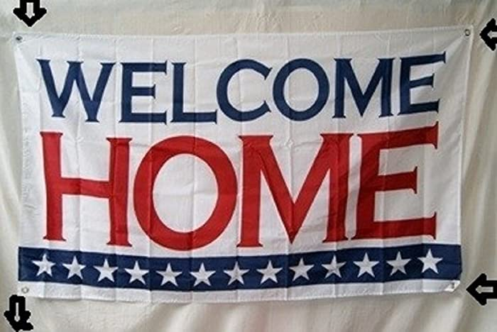 Welcome Home Banner With 13 Stars 3'x5' Poly
