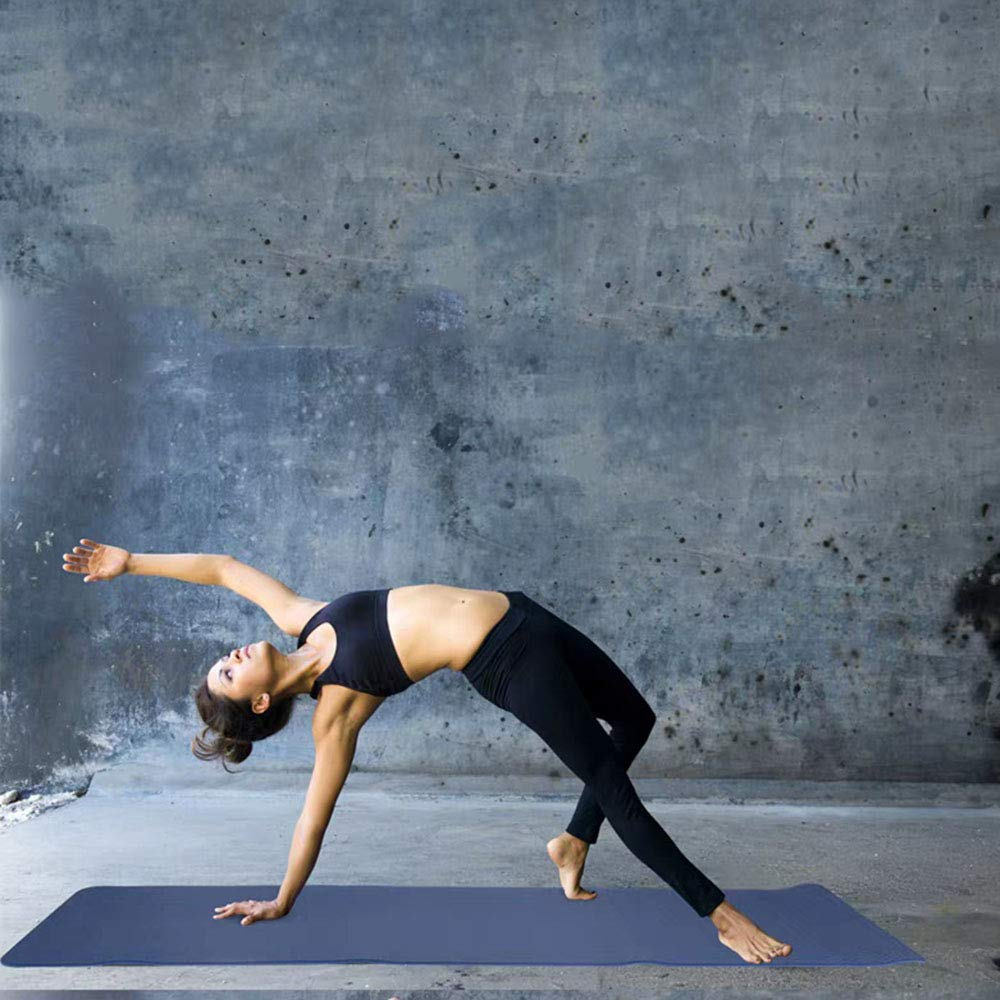 Yoga-Matte Weiche Rutschfeste Zweifarbige 6mm Hause Übung Pilates Fitness Übung Stretch Tragbare Anfänger Trainingsmatte