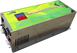 LYABE 8000W/ 32000W Peak Pure Sine Wave Power Inverter 24V DC to 120/240V AC Split Phase with Battery AC Charger,Low Frequency Off Grid Solar Inverter