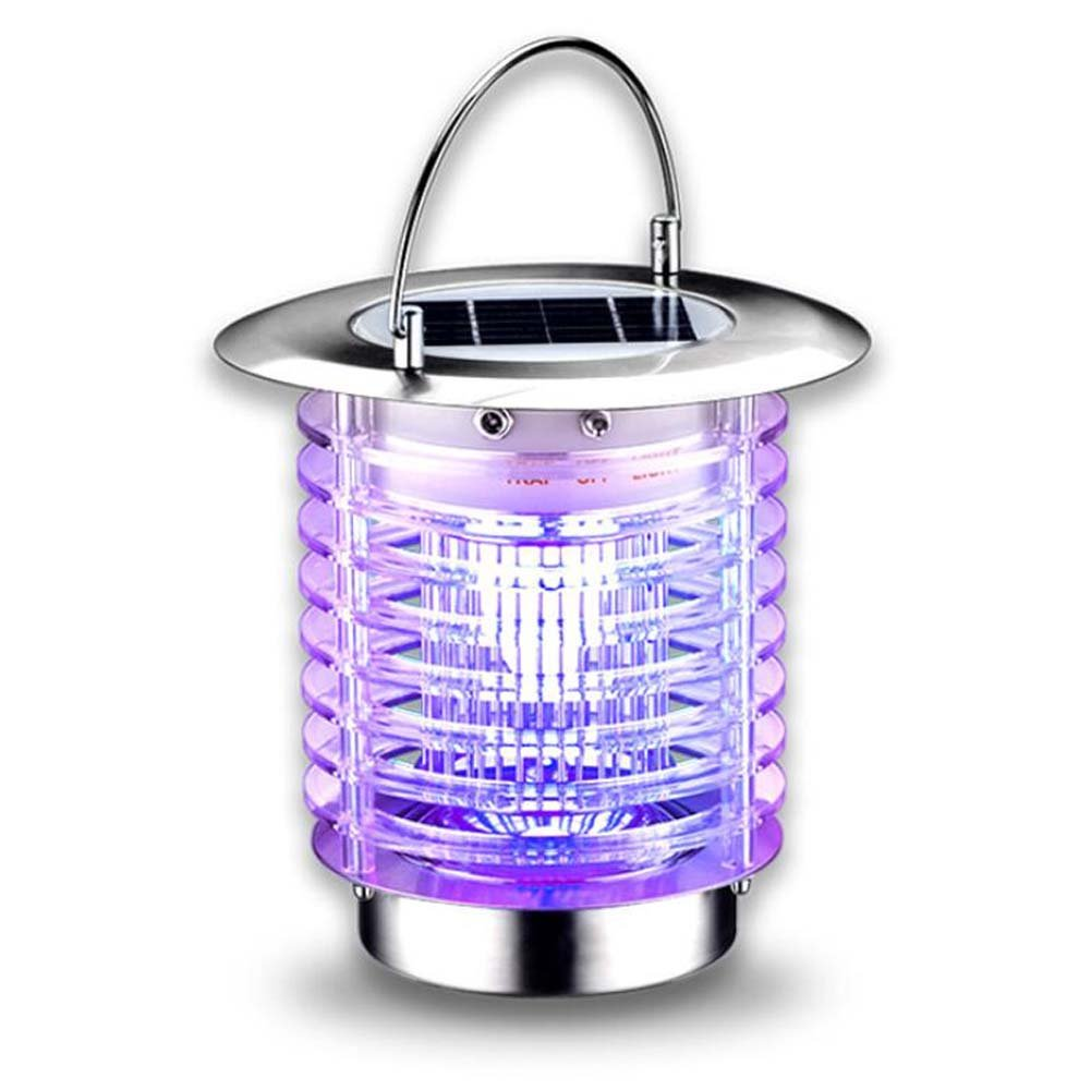 GAOLIQIN LED Solar Mosquito Lamp, Portable Ultra-quiet, No Radiation Solar Bug Zapper Lamp, Household Photocatalyst Mosquito Lamp Dual Modes, Mosquito Killer Lighting For Outdoor Indoor
