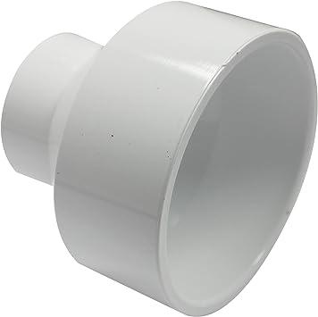 Canplas 193023 PVC DWV Reducing Coupling, 3-1 1/2-Inch, White