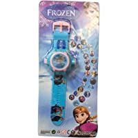 ASU Cartoon Chatcter Images Frozen Projector Watch, (Multicolour) Best Digital Toy Watch for Girls