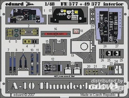 Used, Eduard Photoetch 1:48 - A-10 Interior (italeri) - (edp49377) for sale  Delivered anywhere in USA
