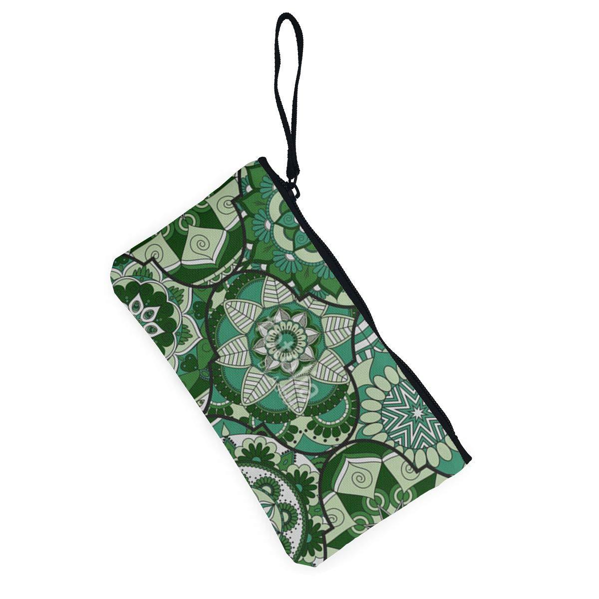 Coin Purse Luxury Hexagonal Boho Green Men Zipper Canvas Wallets TravelCool Holder