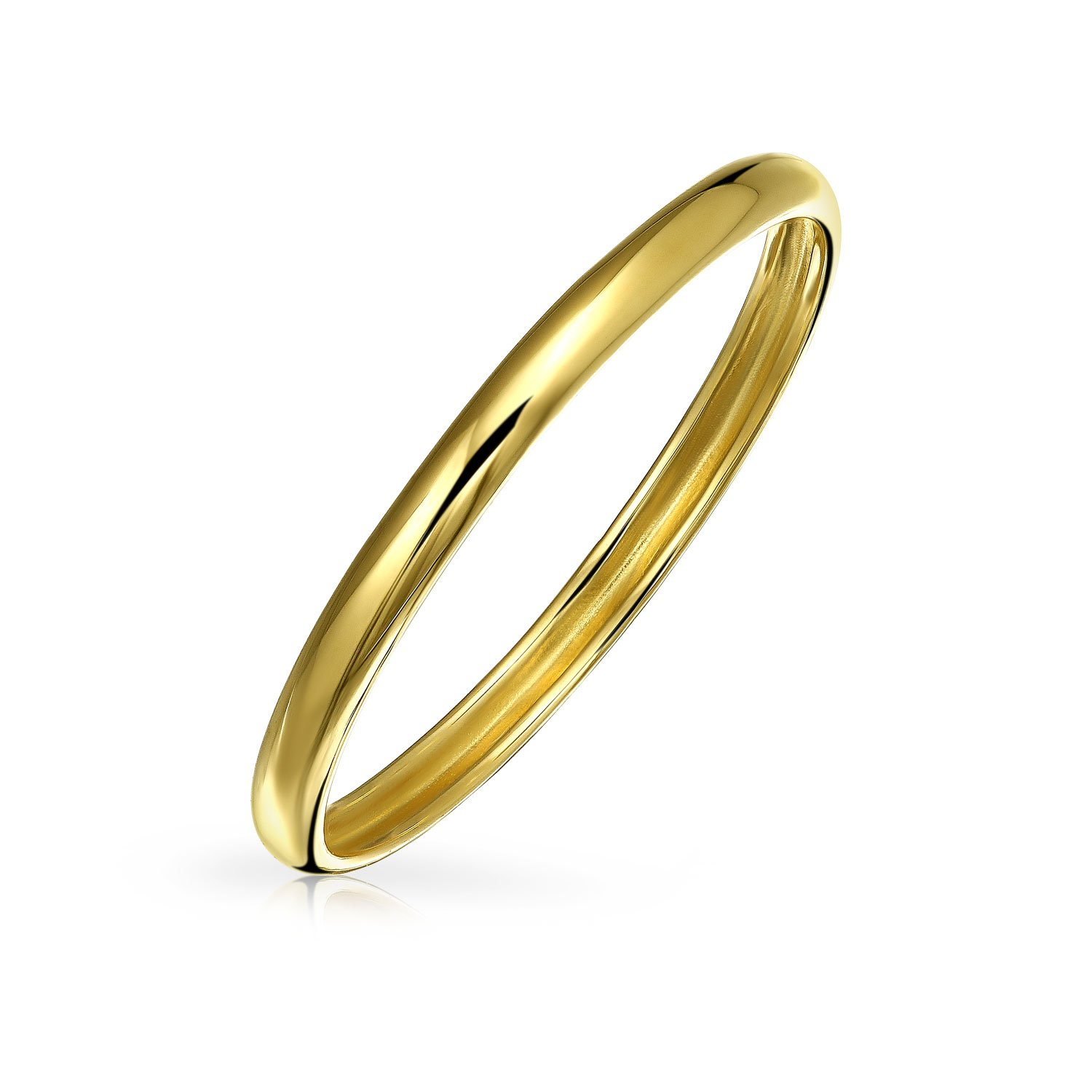 Bling Jewelry 14K Yellow Gold Band Chic Stackable Ring GIO-KR0644-13