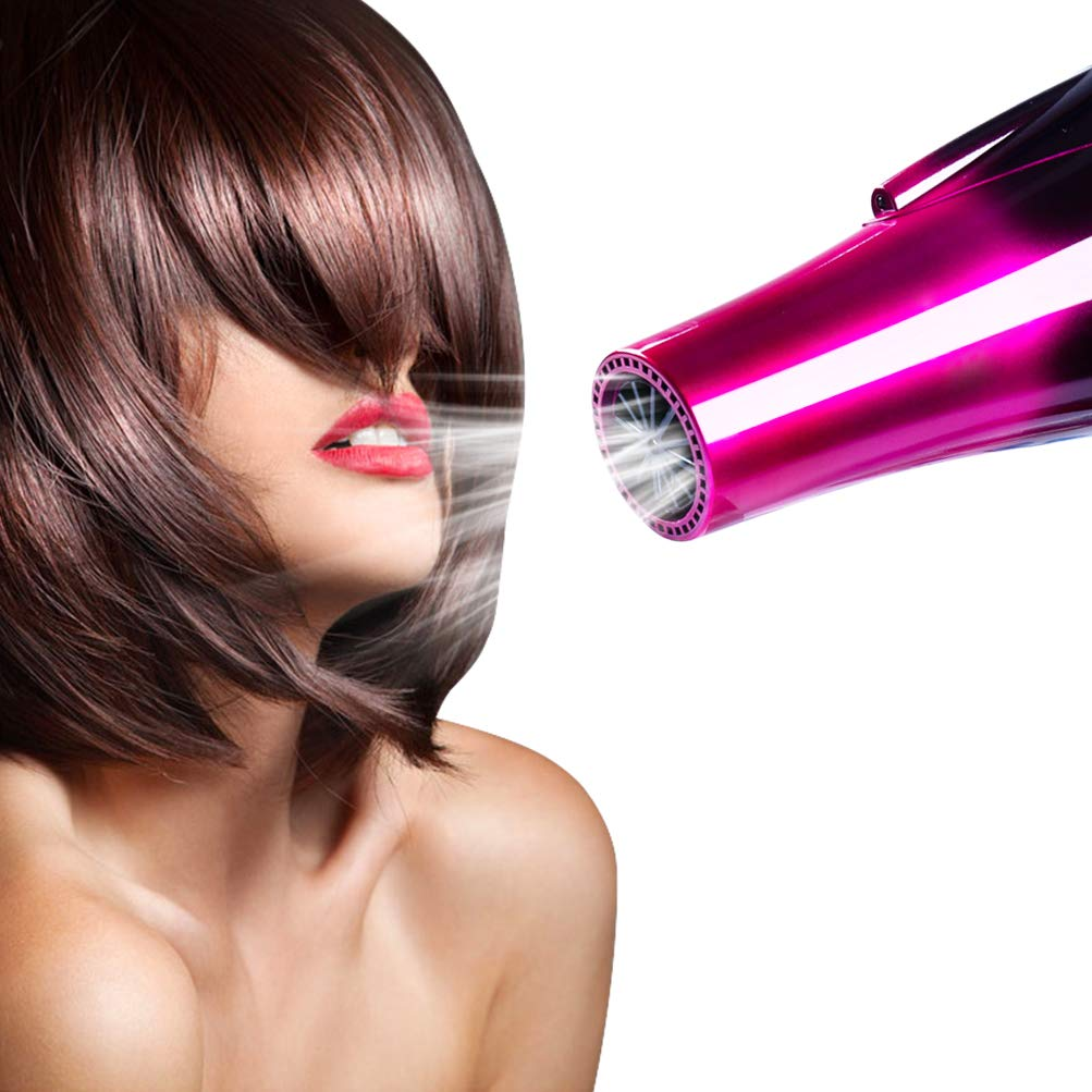 Professional Ionic Hair Dryer,Ceramic Powerful Fast Heat Salon Performance AC Motor Styling Tool,6000W Blow Dryer with Nozzle and Diffuser High Speed for Women Men Smooth(110V & 120V,6000W,Purple) by Mannice (Image #7)