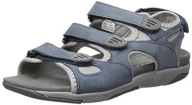 066ea311cc3b Propet Women s Nami Flat Sandal Denim Blue Grey 6 ...