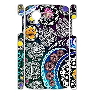 Canting_Good Floral pattern Custom Case Shell Cover for Google Nexus 5 3D