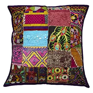 "Multicolor India Kutch Cojín Funda de almohada decorativa Patchwork Couch Throw Pulgadas Arte Regalo 20 """