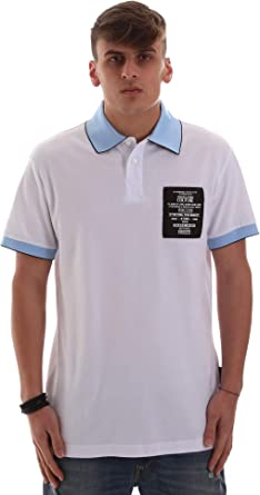 Versace Jeans B3GVB7P836571003 Polo Hombre Blanco M: Amazon.es ...