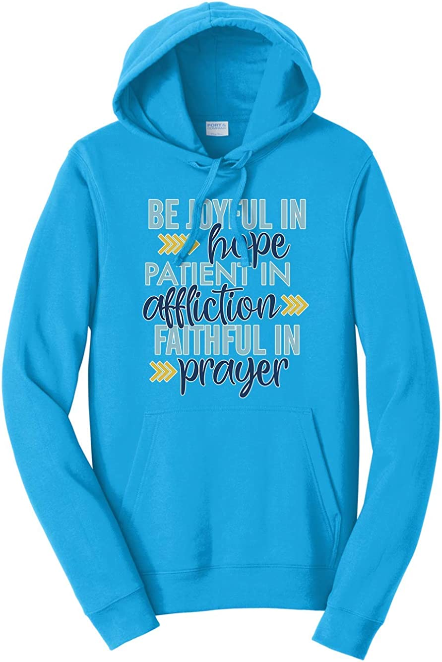 Tenacitee Mens Be Joyful in Hope Hooded Sweatshirt