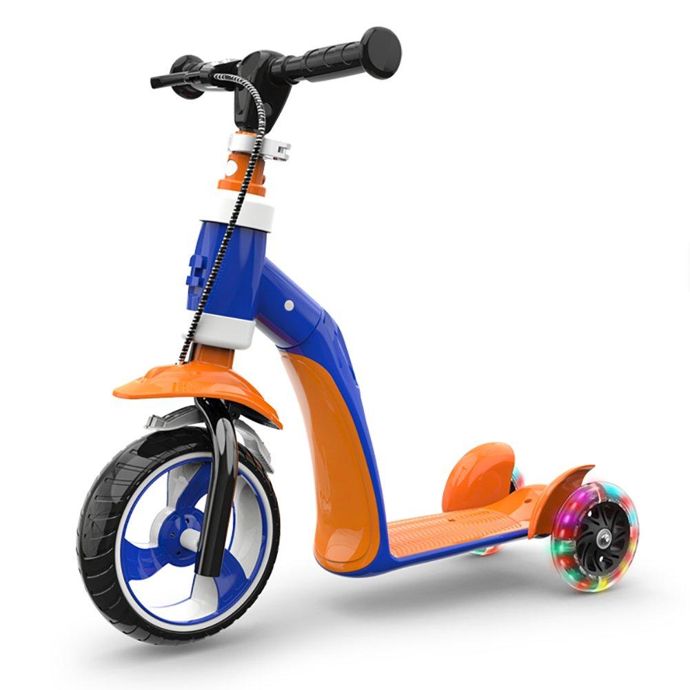 Patinete Niño de la Vespa de la polea 1-6 Años Puede Sentarse Scooter de la Patada Deslizante Yo Car Multifunction (Color : Style3)