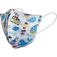 Máscaras KN95 Branco Mar Infantil Criança - Kit de 10, 20, 30, 40, 50, 100 Unidades - FPP2 PFF2 - Filtragem > 95…