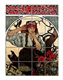 Moravian teachers choir (A Mucha) Poster Vertical Tile Mural Satin Finish 20''Hx16''W 4 Inch Tile