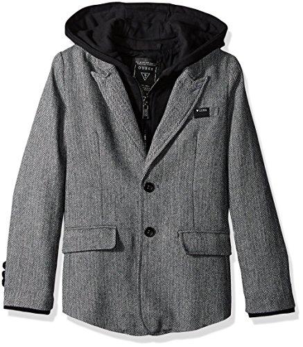 GUESS Tweed Blazer Fleece Placket