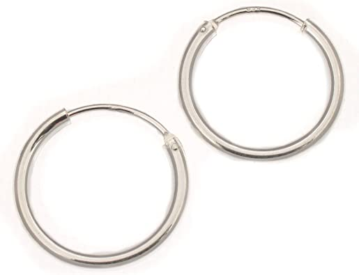 20 mm Ovale 3 mm Boucles d/'oreilles créoles en argent sterling