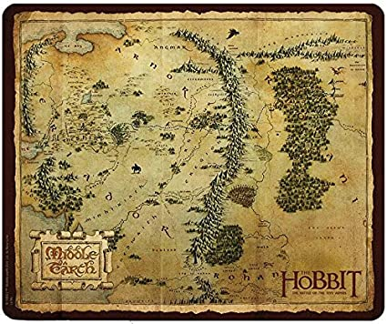 Amazon.com : THE HOBBIT Mousepad Map Middle Earth : Office Products