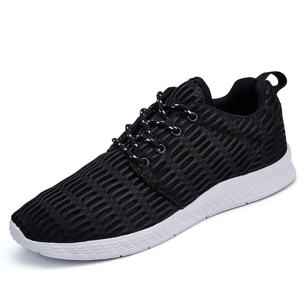 Zapatos atléticos de la Moda de los Hombres Zapatillas Deportivas de Color sólido de Punta Redonda 40 EU|Negro