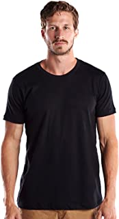 product image for US Blanks Men's Premium Short Sleeve, Pure Cotton, Crew Neck S Black, Made In USA