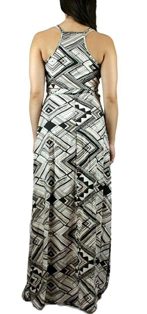02942d2a9f8bd Ark & Co. Sexy Racerback Tribal Print Flowy Side Slip Maxi Dress - Size  (Women's) S at Amazon Women's Clothing store: