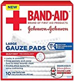 Band-Aid First Aid Large Gauze Pads, 4 In X 4 In, 10 Count (3 Pack) by J & J SALES & LOGISTICS CO