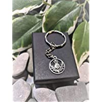 Handmade Silver Scottish Thistle Scotland Keyring/Handbag Charm. Can be personalised. Gift Packaged.
