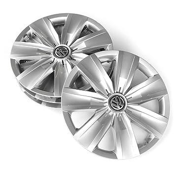 Volkswagen 2 ga071456 Tapacubos (4 unidades) 16 pulgadas tapacubos Brillant Plata