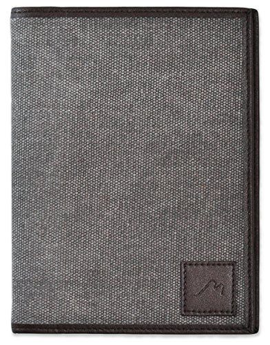 "Field Notes / Moleskine Pocket Notebook Cover by Metier Life | Canvas with Vegan Leather | Fits Journals 3.5"" X 5.5"""