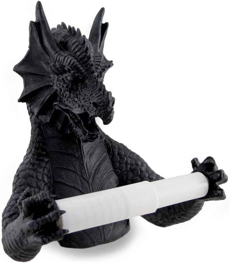 Things2Die4 Gothic Commode Dragon Sculptural Toilet Tissue Holder