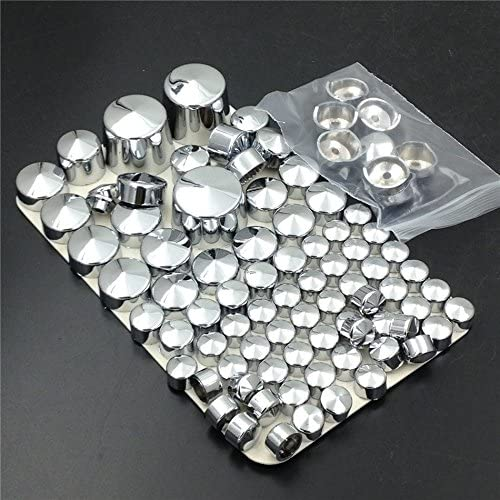 SEMT Chrome Bolts Toppers Caps Compatible With 2000-2005 2006 Harley Davidson Softail Twin Cam B074MMG2PS