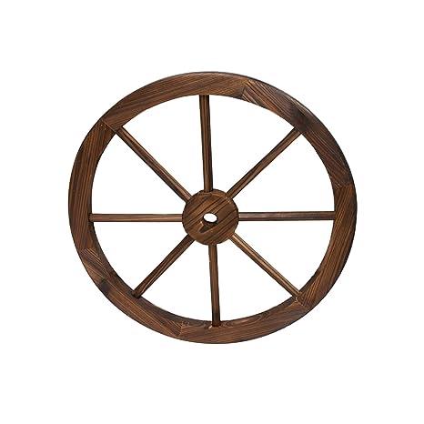 Rueda de Madera de Carro Estilo Vintage con un diámetro de ...