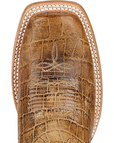 Ariat Women's Chute Out Croc Print Cowgirl Boot Square Toe Tan 8 M by Ariat (Image #3)