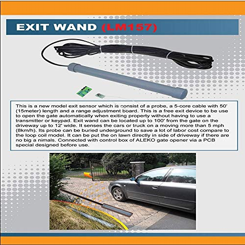 Amazon.com: ALEKO LM157 Exit Sensor Underground Automatic Gate Opener Exit Wand Loop Car Detector: Home Improvement