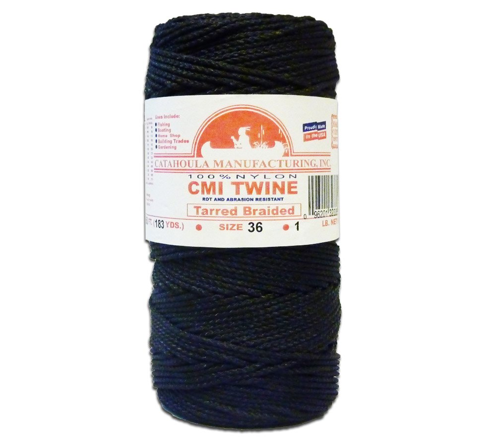 480' Catahoula Manufacturing #36 Tarred Braided Nylon Twine (Bank Line) 320 lb Tensile Strength by Catahoula