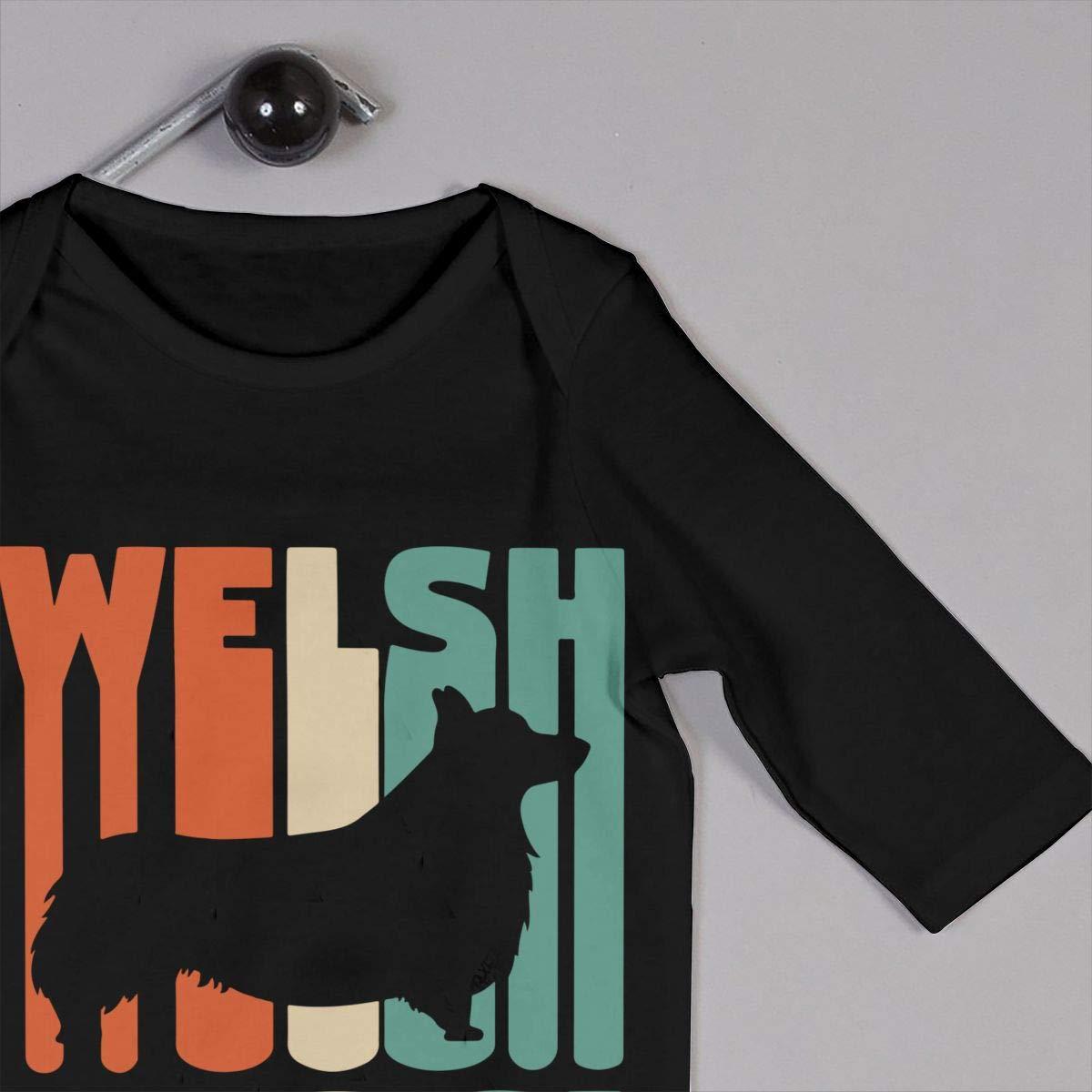 Vintage Welsh Corgi Infant Baby Boy Girl Sleep and Play Bodysuit Sleepwear