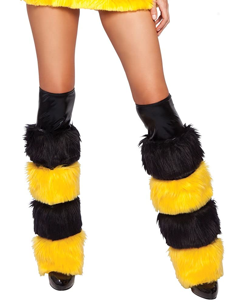 J. Valentine Women's Honey Bee Legwarmers Black/Yellow One Size J. Valentine Costumes 8004HB